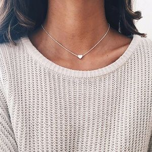 Jewelry - Single Silver Heart Dainty Necklace